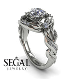 Curly Flower Branches Diamond Ring - Isabelle no. 3