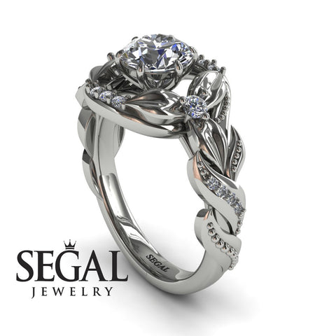 Nature Inspired Floral Engagement Ring - Isabelle no. 3