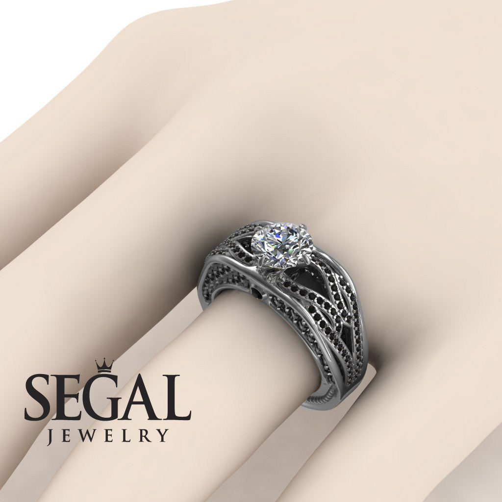 Racer's Cage Diamond Ring- White Gold -Bailey no. 12