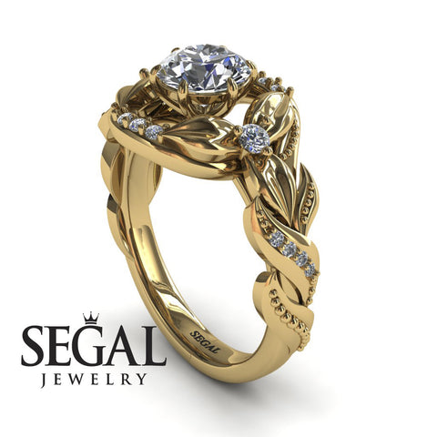 Flower Nature Inspired Engagement Ring - Isabelle no. 1