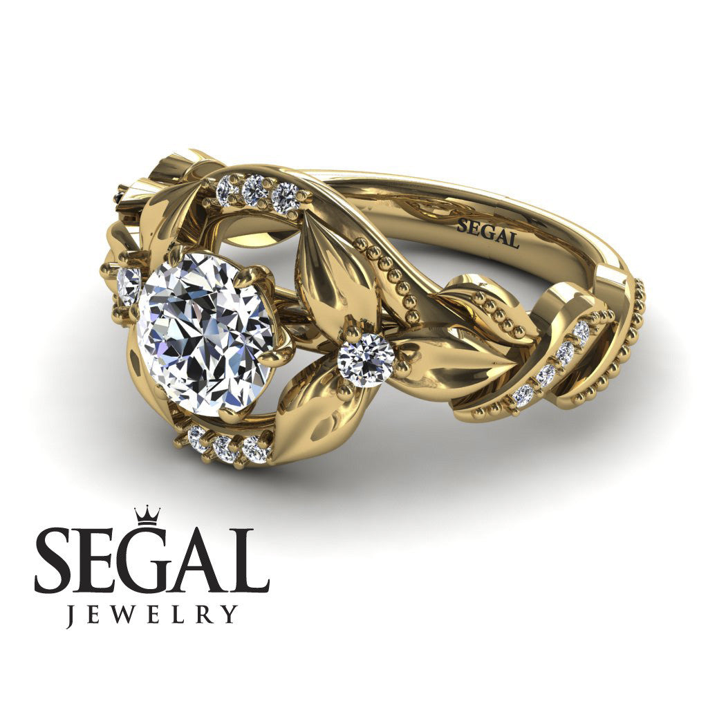 Curly Flower Branches Diamond Ring - Isabelle no. 1