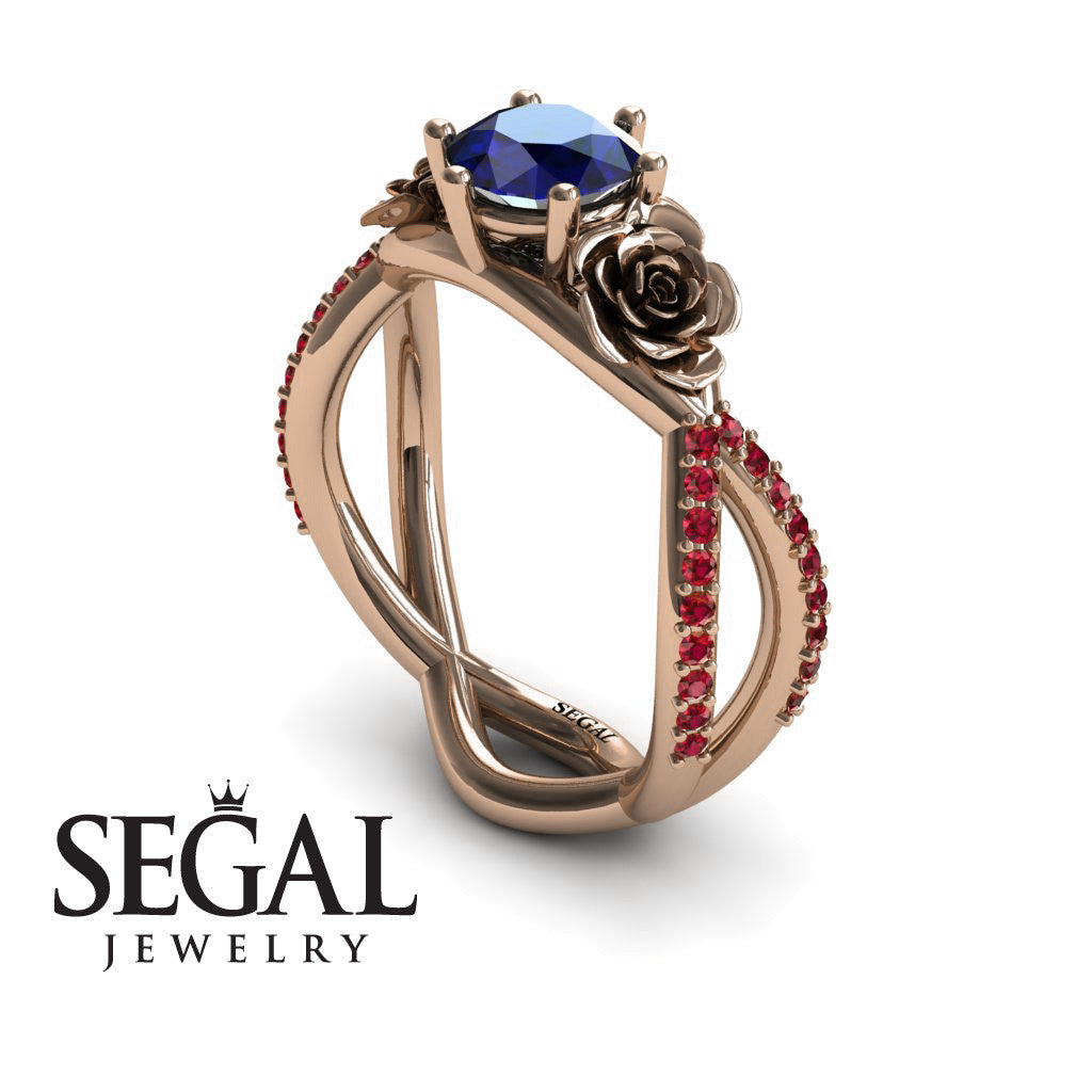The Rose Power Blue Sapphire Ring- Abigail no. 8