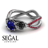 The Rose Power Blue Sapphire Ring- Abigail no. 9