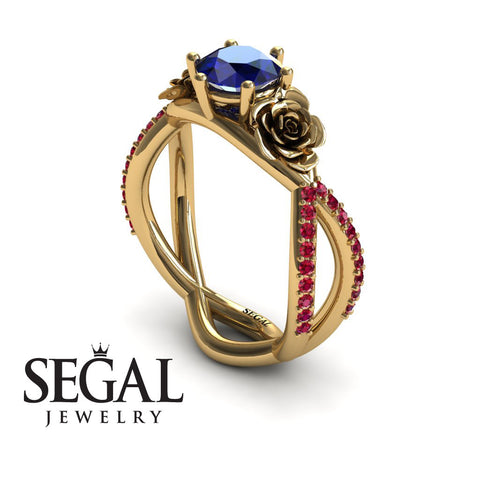 The Rose Power Blue Sapphire Ring- Abigail noº 1 7