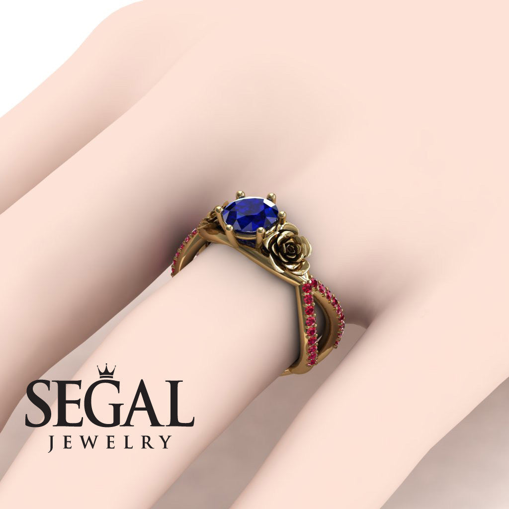 The Rose Power Blue Sapphire Ring- Abigail no. 7