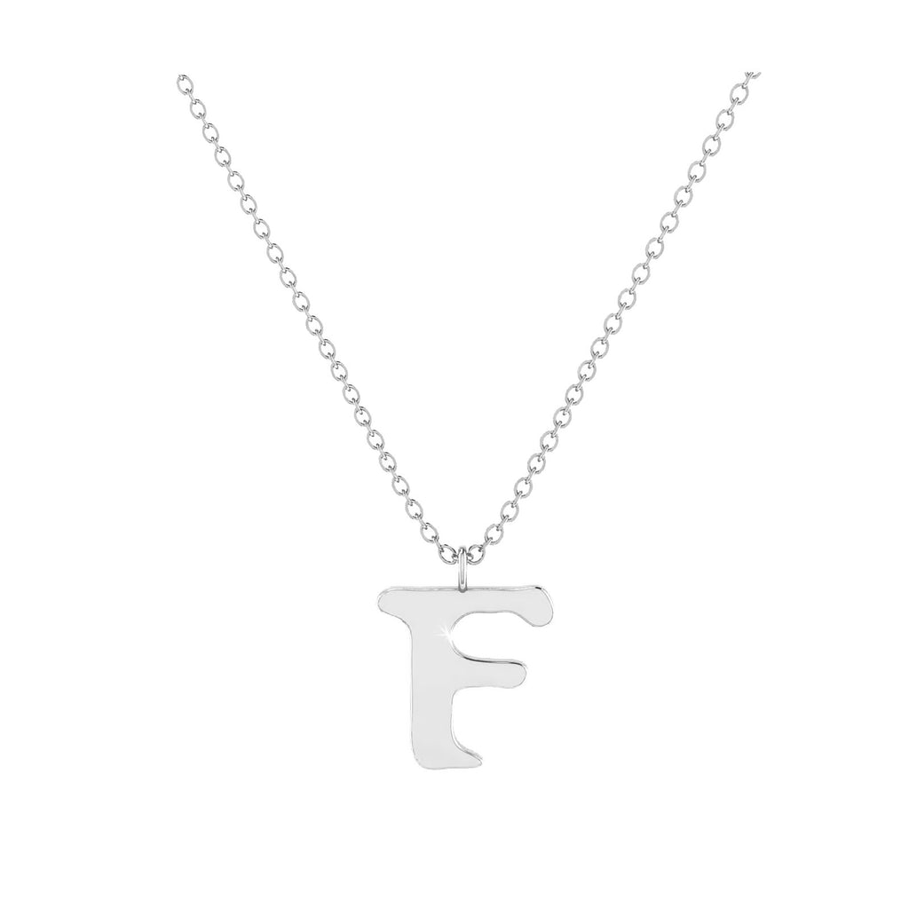 F - Letter Name Necklace Initial Necklace