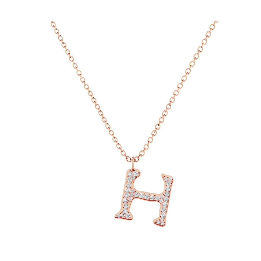 H - Letter Name Necklace Initial Necklace