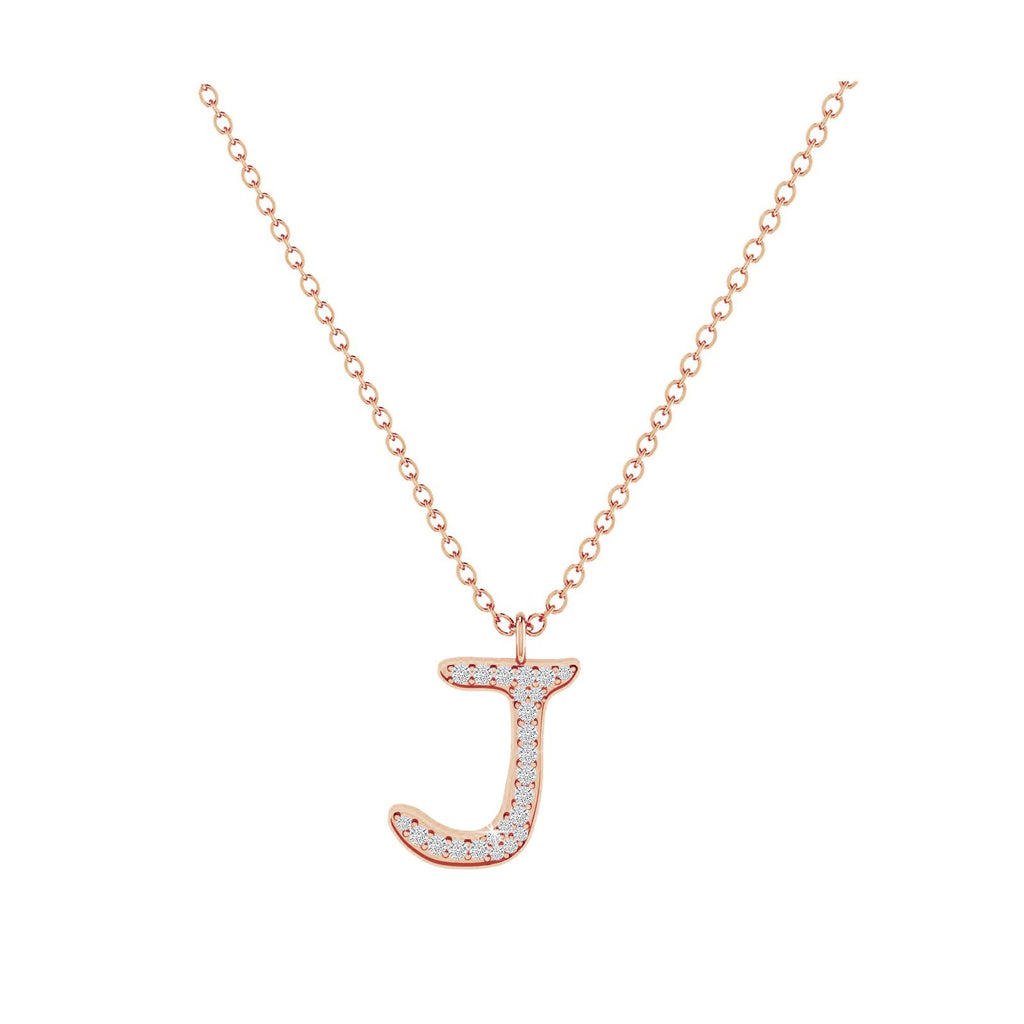 J - Letter Name Necklace Initial Necklace