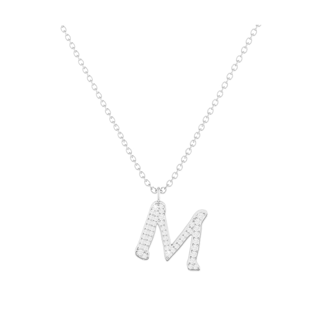 M - Letter Name Necklace Initial Necklace