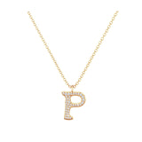 P - Letter Name Necklace Initial Necklace