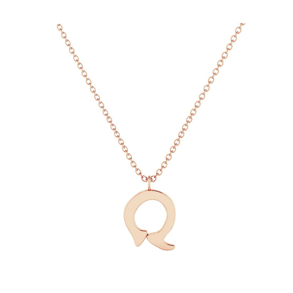 Q - Letter Name Necklace Initial Necklace