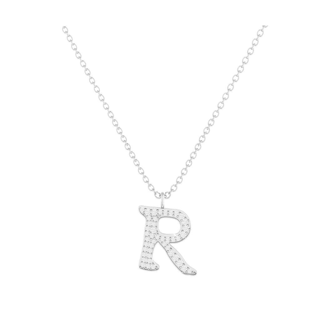 R - Letter Name Necklace Initial Necklace