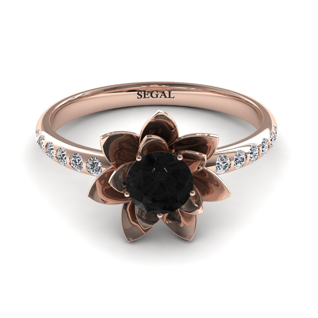 Lotus Flower Black Diamond ring - Lotus no. 5