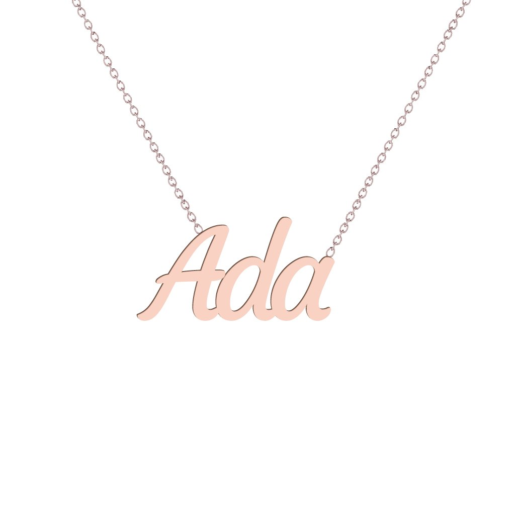Gold Name Necklace - Ada