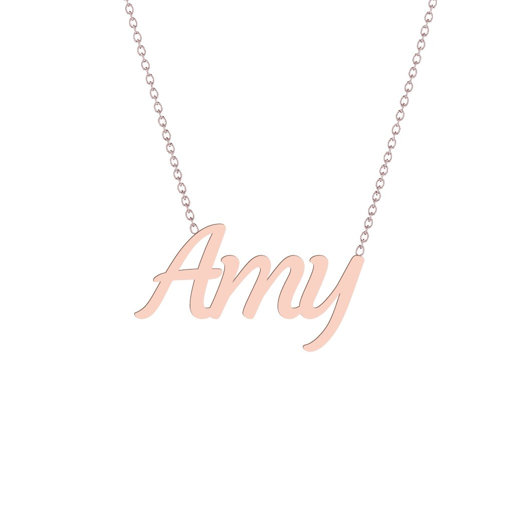 Gold Name Necklace - Amy