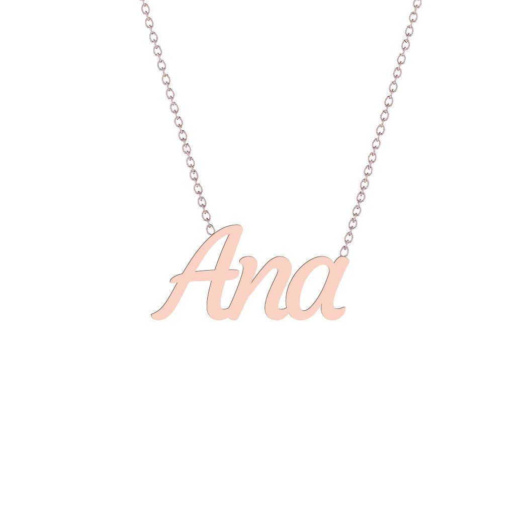 Gold Name Necklace - Ana