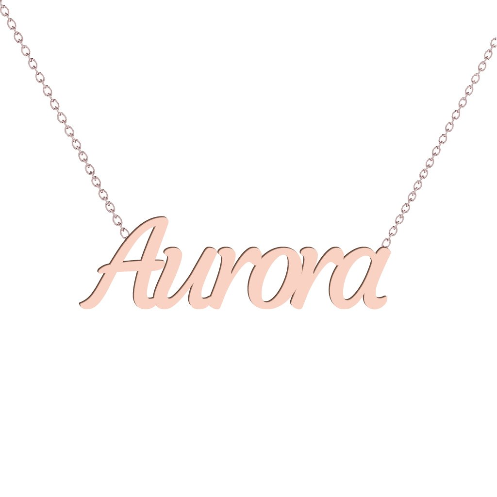 Gold Name Necklace - Aurora