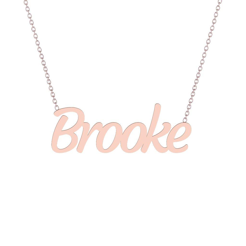 Gold Name Necklace - Brooke