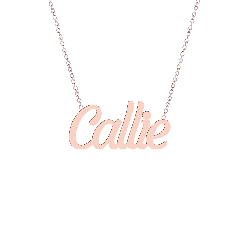 Gold Name Necklace - Callie