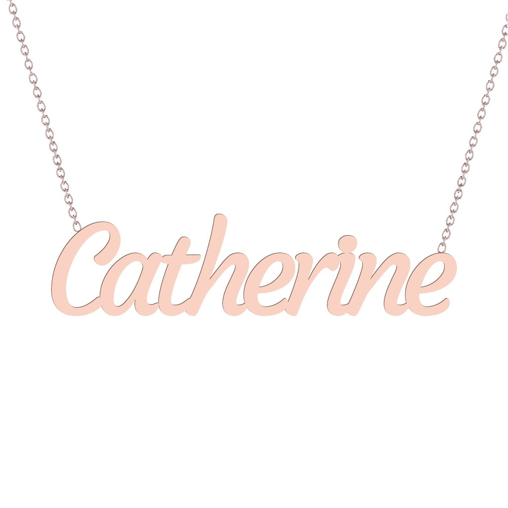 Gold Name Necklace - Catherine
