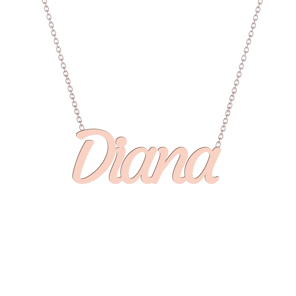 Gold Name Necklace - Diana