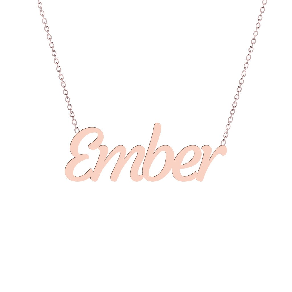 Gold Name Necklace - Ember