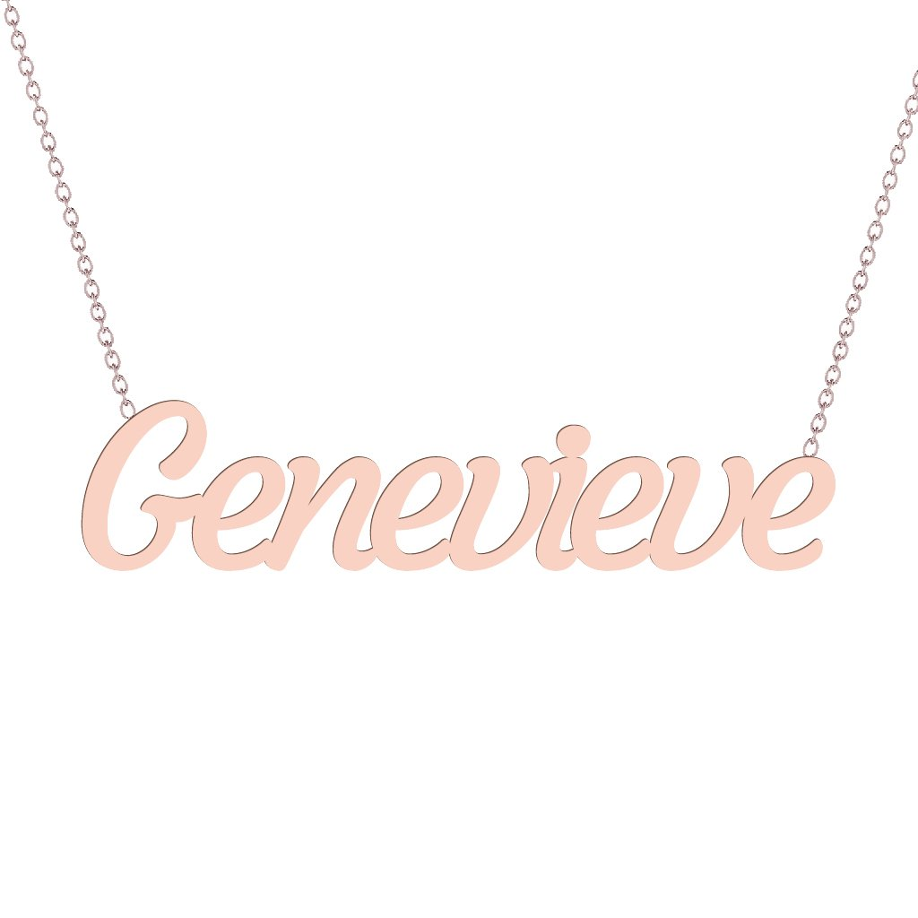Gold Name Necklace - Genevieve