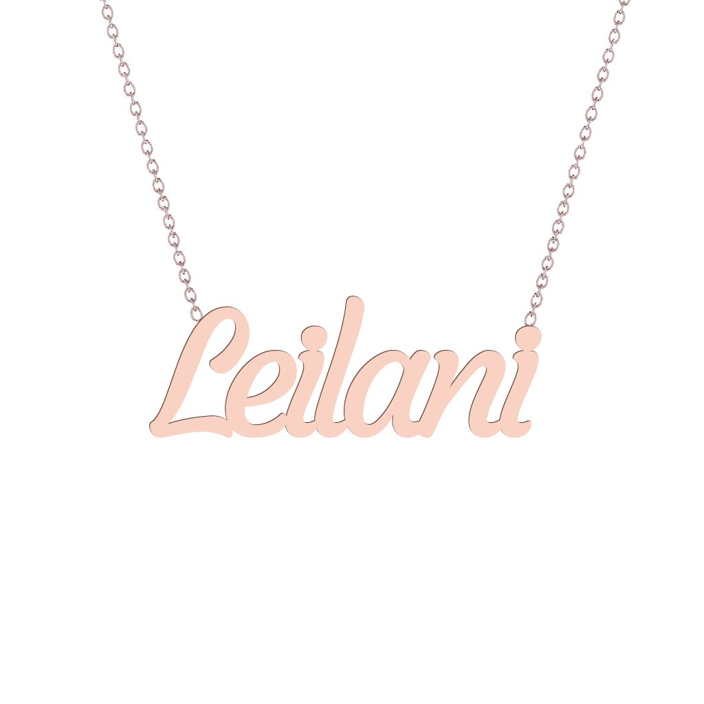 Gold Name Necklace - Leilani