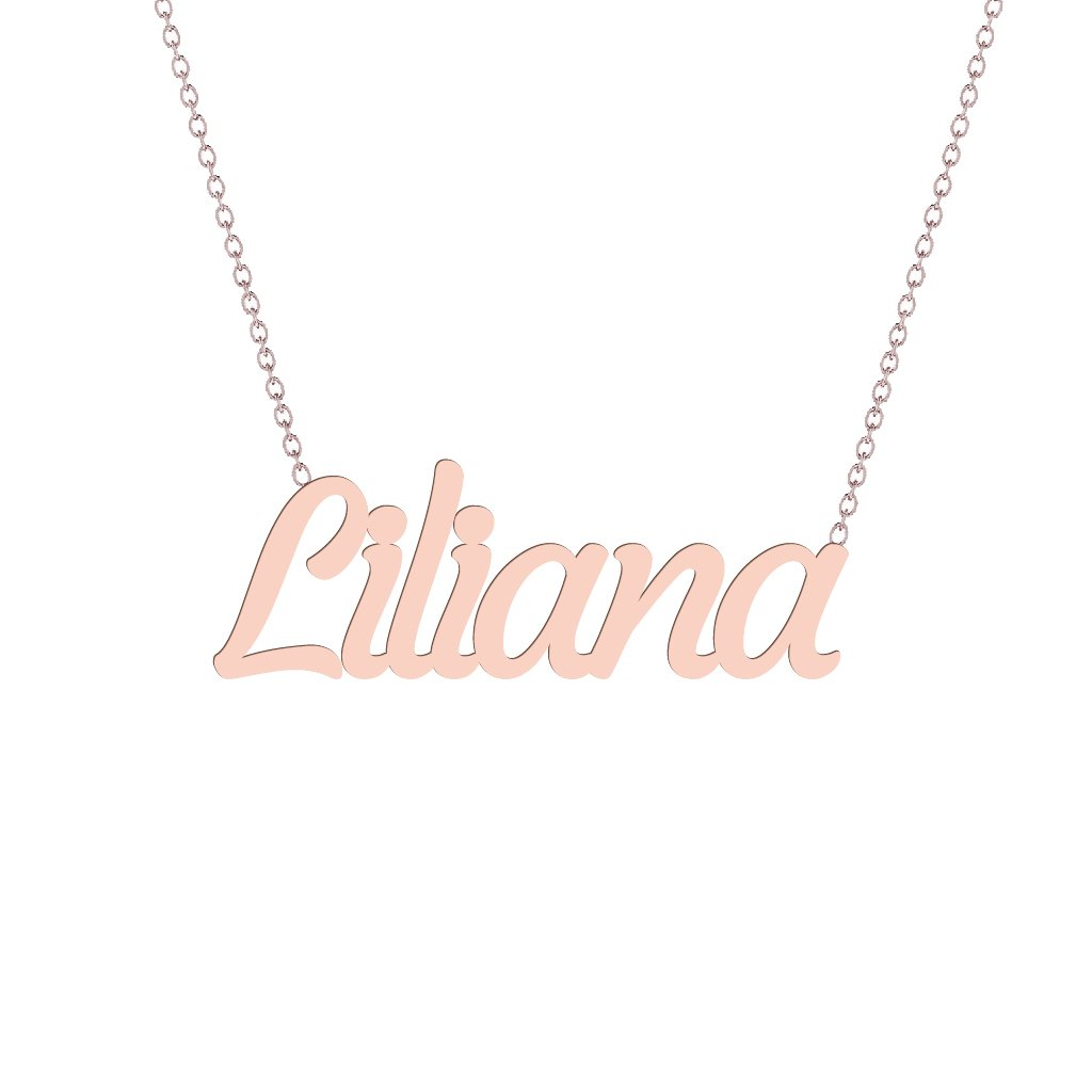 Gold Name Necklace - Liliana