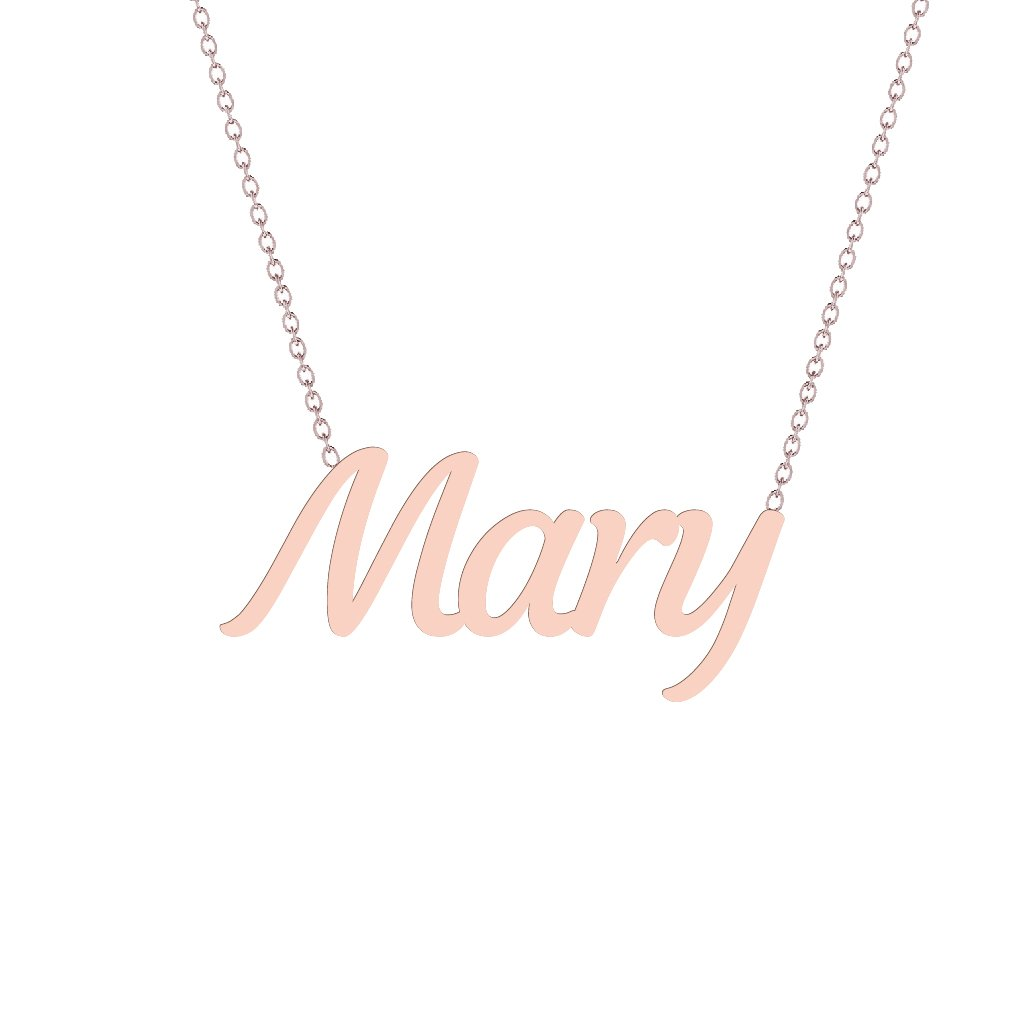 Gold Name Necklace - Mary