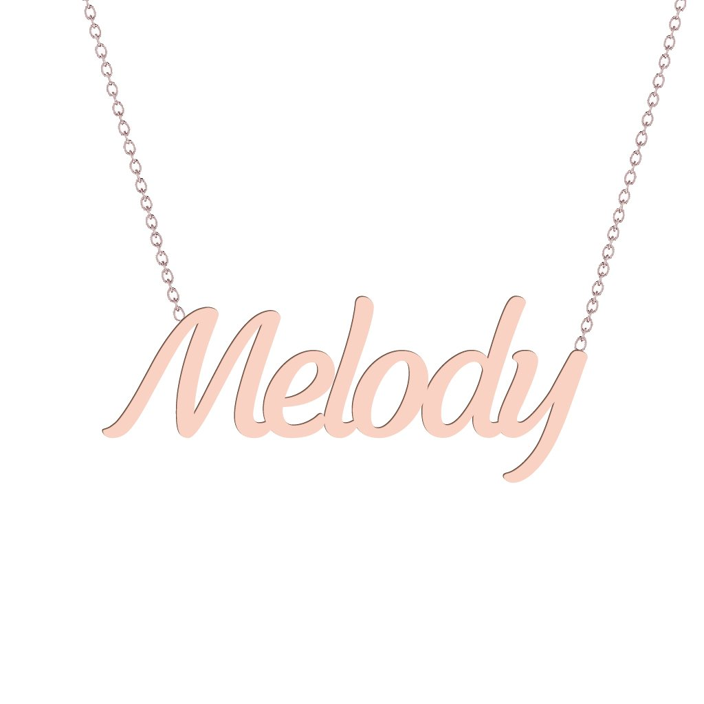 Gold Name Necklace - Melody