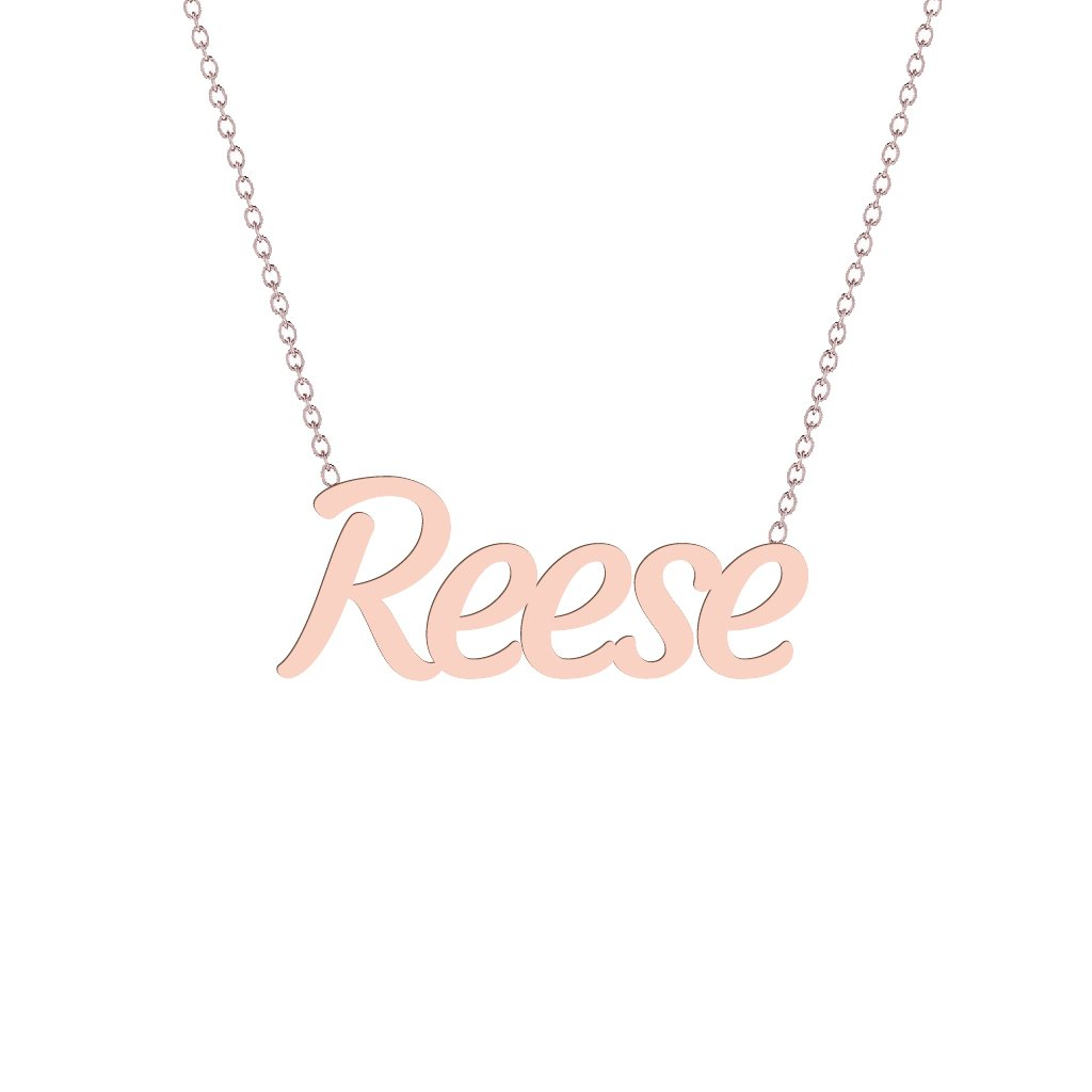 Gold Name Necklace - Reese