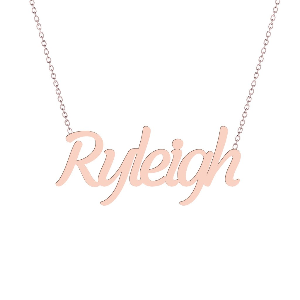 Gold Name Necklace - Ryleigh