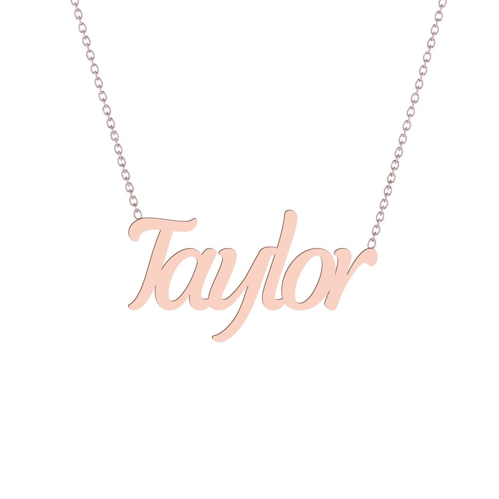 Gold Name Necklace - Taylor