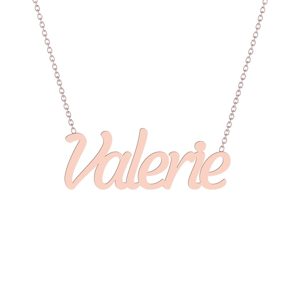 Gold Name Necklace - Valerie