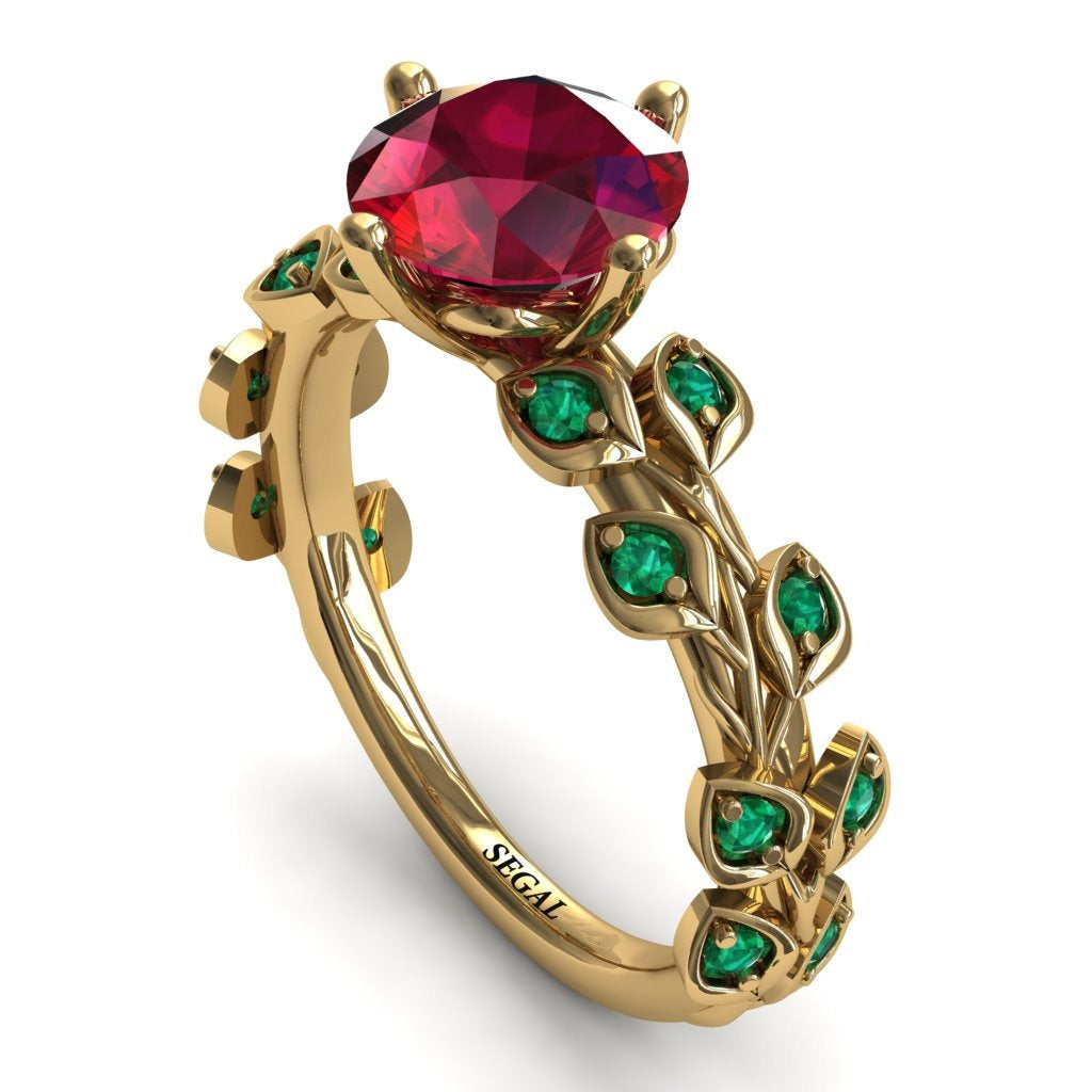 Leaves All Around Ruby Ring- Sydney 2ct