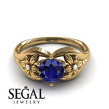 Two Seasons Flower Ring Blue Sapphire- Bella no. 4