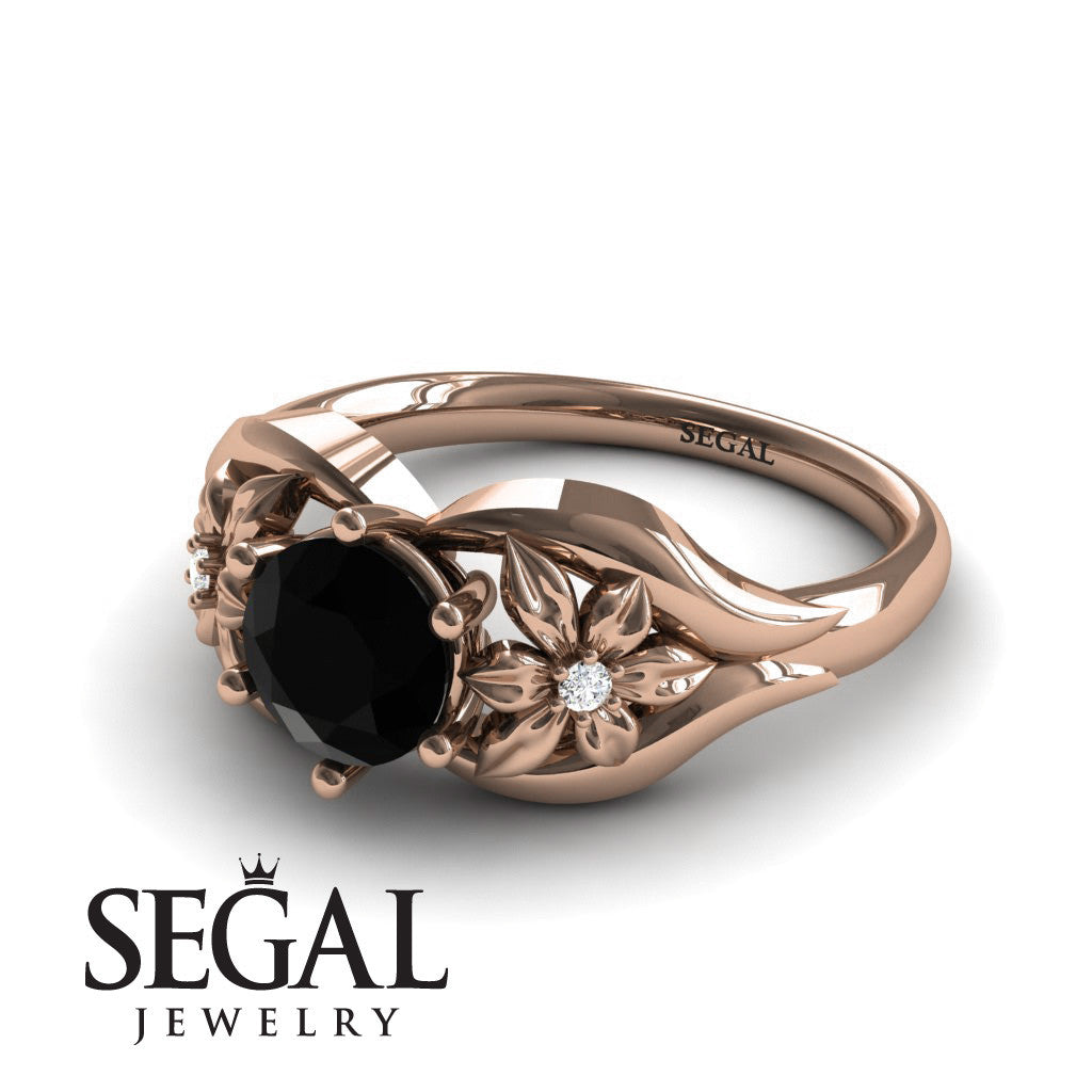 Two Seasons Flower Ring Black Diamond Ring- Bella no. 8
