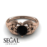Two Seasons Flower Ring Black Diamond- Bella no. 14