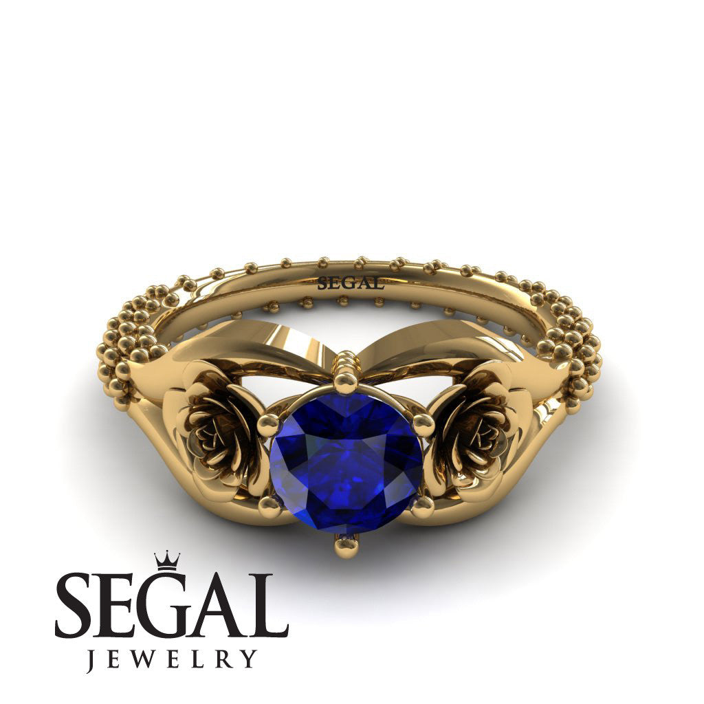 The Rose Spike Blue Sapphire Ring- Camilla no. 10