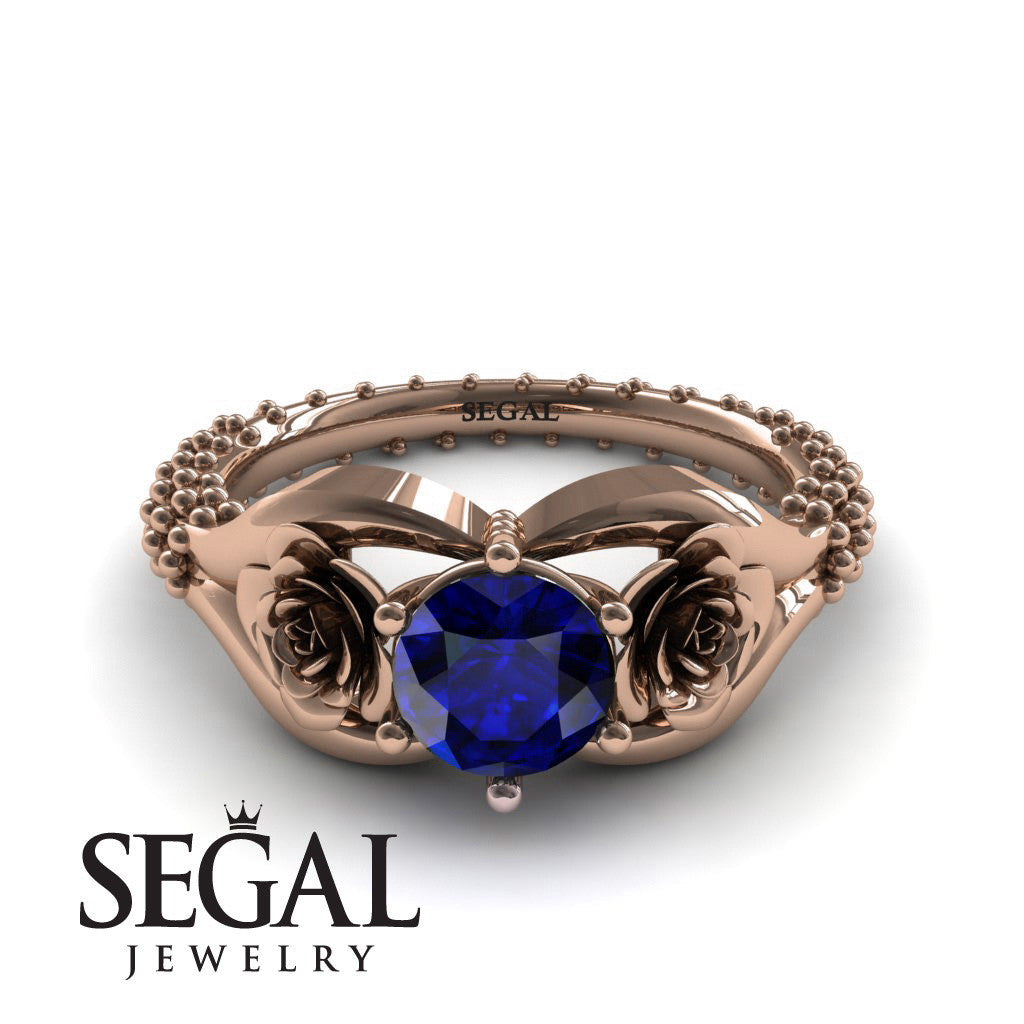 The Rose Spike Blue Sapphire Ring- Camilla no. 11