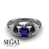 The Rose Spike Blue Sapphire Ring- Camilla no. 12