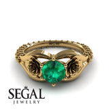 The Rose Spike Green Emerald Ring- Camilla no. 13