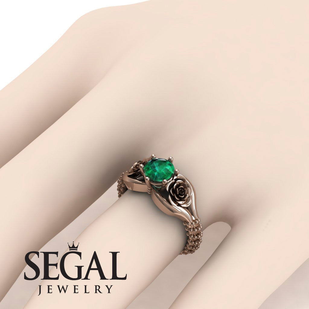 The Rose Spike Green Emerald Ring- Camilla no. 14