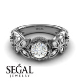Mounted Circle Rounds Diamond Ring- Vivian no. 3