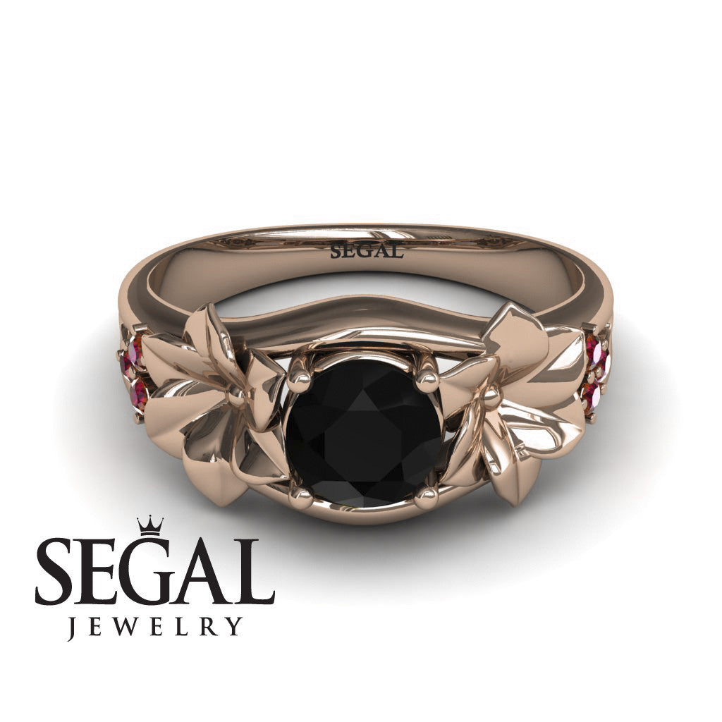Narcissus Trilogy Black Diamond Ring- Blossom no. 8