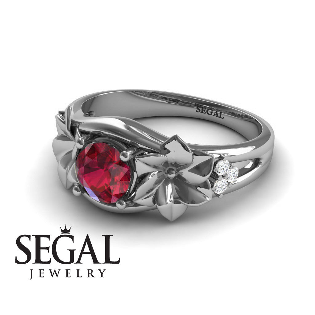 Narcissus Trilogy Ruby Ring- Blossom no. 12