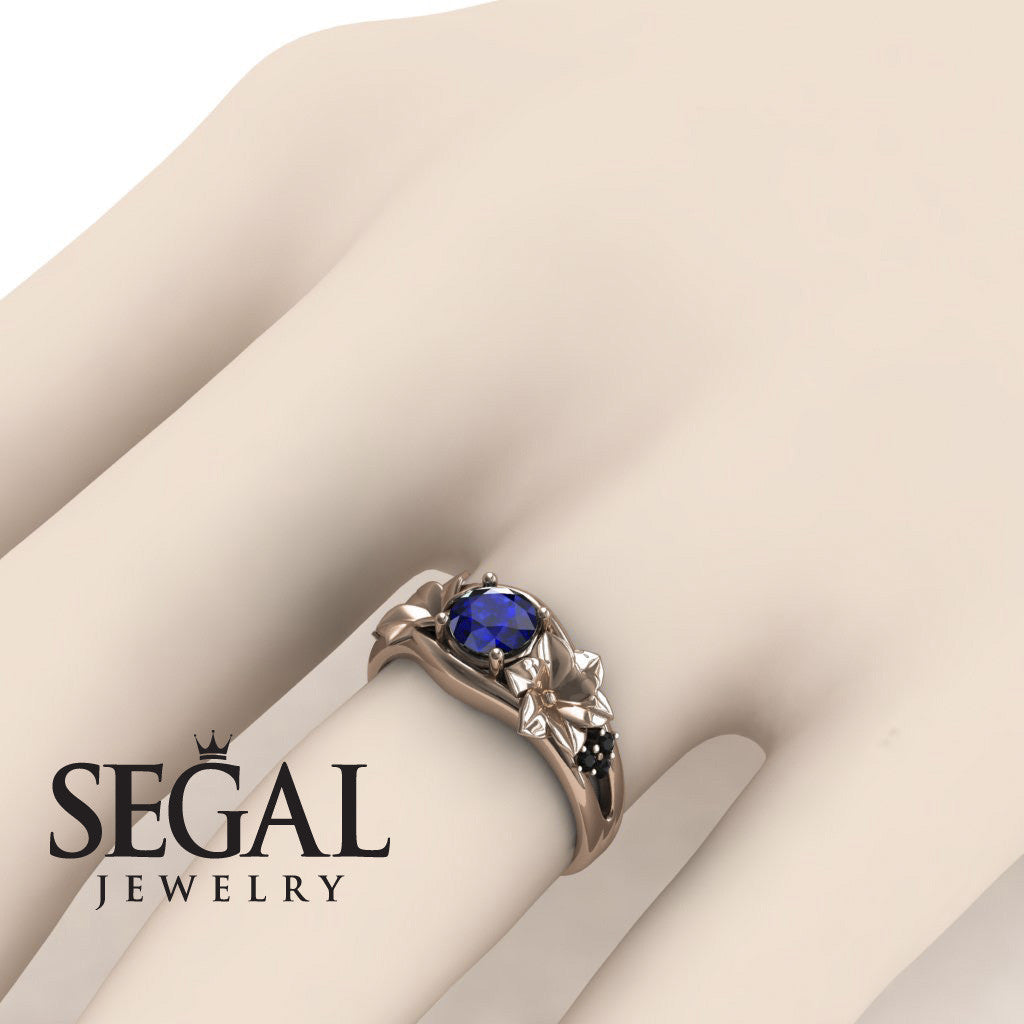 Narcissus Trilogy Blue Sapphire Ring- Blossom no. 14