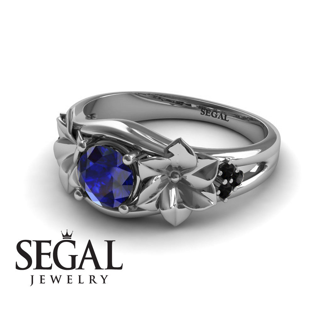 Narcissus Trilogy Blue Sapphire Ring- Blossom no. 15