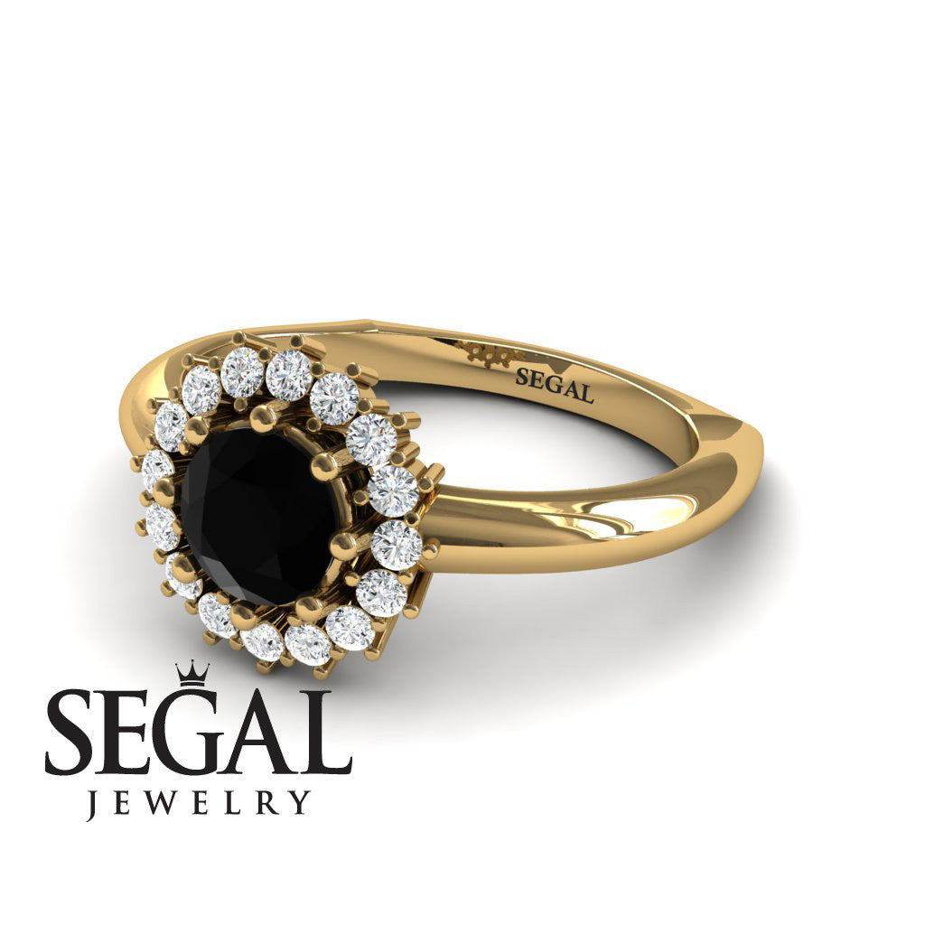 Halo's Vintage Black Diamond Ring- Clara no. 4